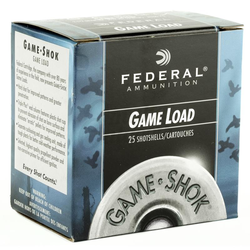 """Federal Game Load 20 Gauge Ammo 2 3/4"""" 7/8oz #7.5 Shot Target 250 Rounds"""
