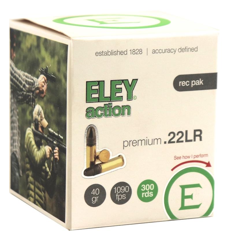 Eley Action Premium 22 Long Rifle Ammo 40 Grain Lead Round Nose