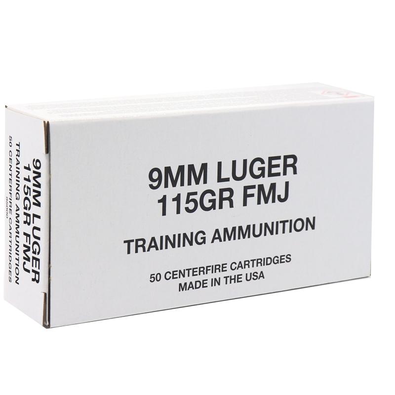 Federal Training 9mm Luger Ammo 115 Grain Full Metal Jacket