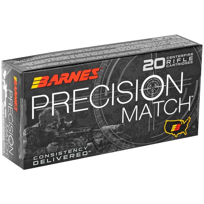Barnes Precision Match 300 AAC Blackout Ammo 125 Grain Open Tip Match