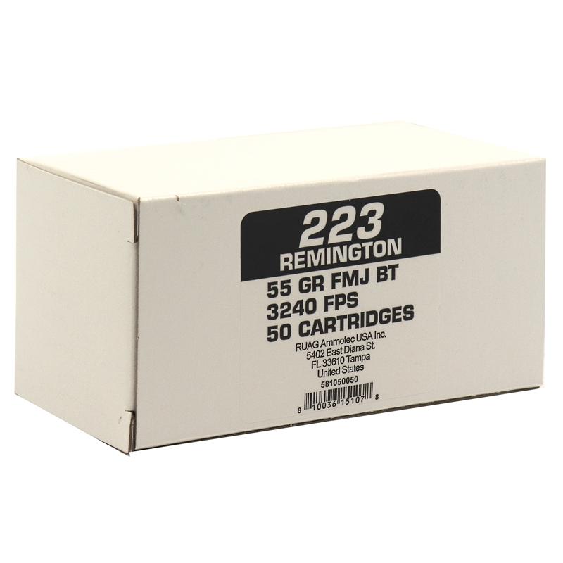Geco Ammotec 223 Remington Ammo 55 Grain Full Metal Jacket