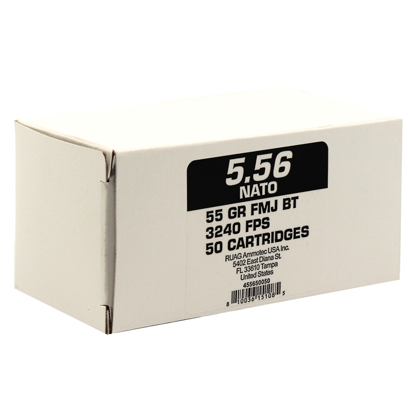 Geco 5.56x45mm NATO Ammo 55 Grain Full Metal Jacket BT