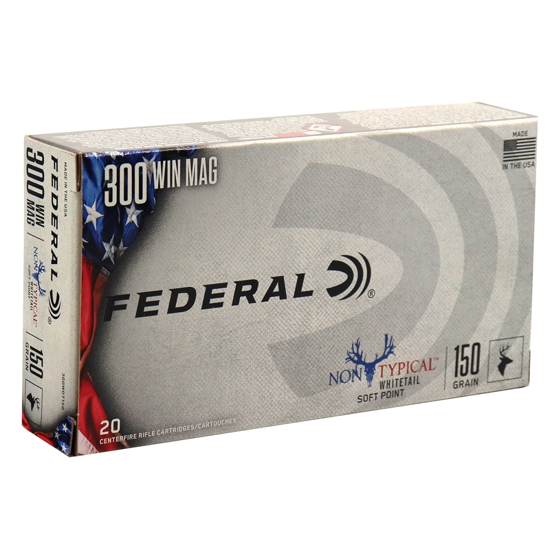 Federal Non-Typical 300 Winchester Magnum Ammo 150 Grain Soft Point