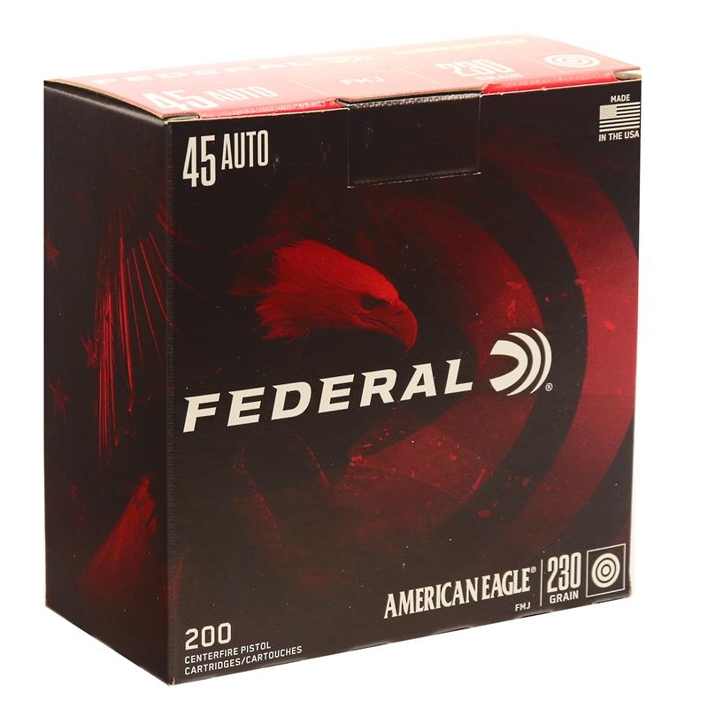 Federal American Eagle 45 ACP Ammo 230 Grain Full Metal Jacket