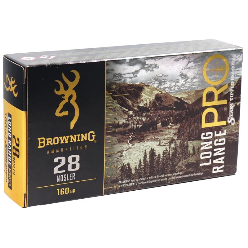Browning Long Range Pro 28 Nosler Ammo 160 Grain Sierra Matchking
