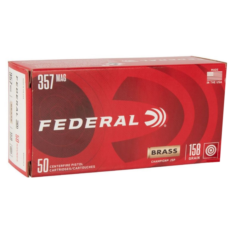 Federal Champion 357 Magnum Ammo 158 Grain Jacketed Soft Point