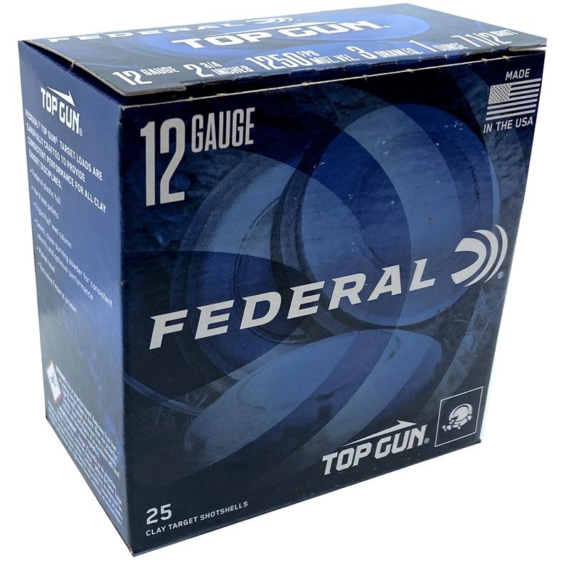 "Federal Top Gun 12 Gauge Ammo 2 3/4"" 1 oz #7.5 Shot"