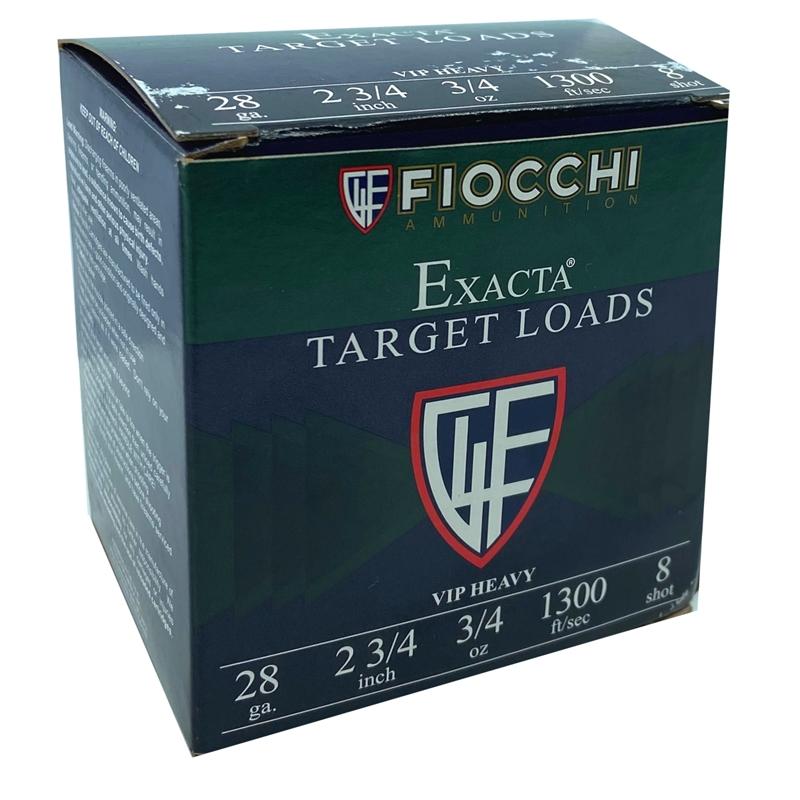 "Fiocchi Exacta VIP Heavy 28 Gauge Ammo 2-3/4"" 3/4oz. #8 Shot 250 Rounds"