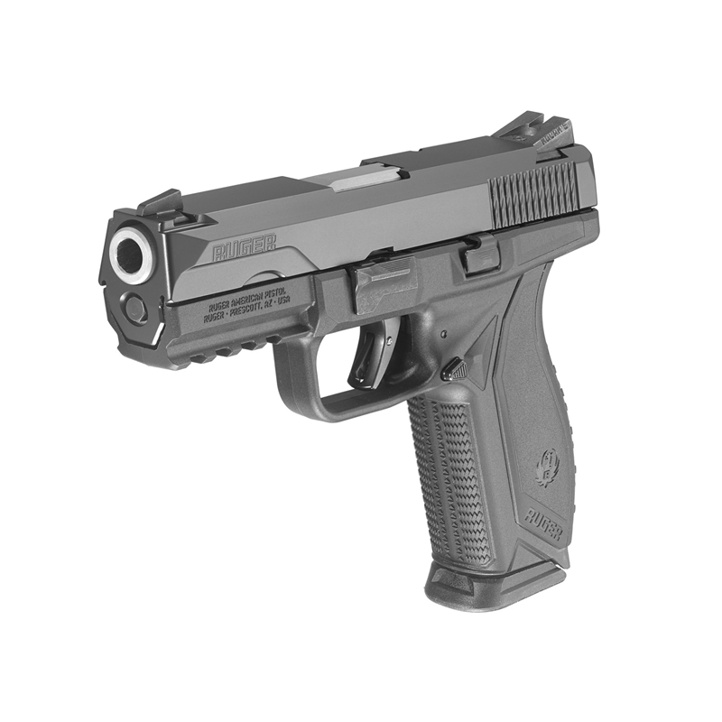 """Ruger AMERICAN DUTY PRO  9mm Luger Semi Auto 4.2"""" Barrel 17 Rounds Black"""