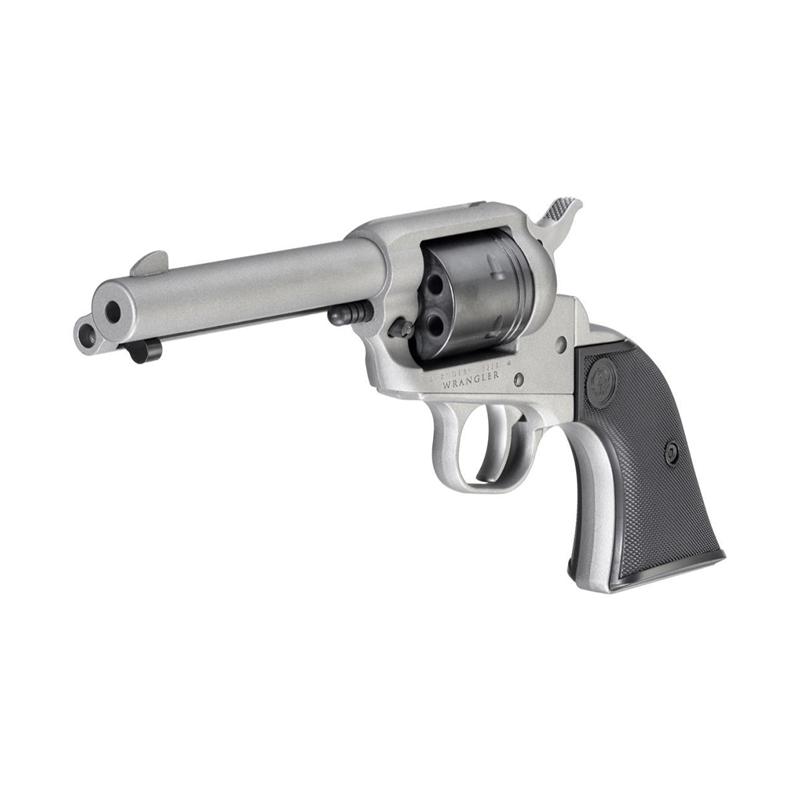 "Ruger Wrangler 22 Long Rifle Single Action 4.62"" Barrel 6 Rounds Silver Revolver"