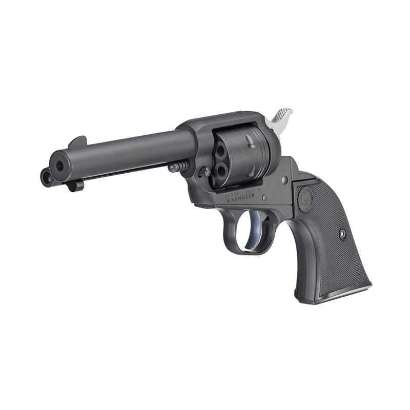 """Ruger Wrangler 22 Long Rifle Single Action 4.62"""" Barrel 6 Rounds Black Cerakote"""