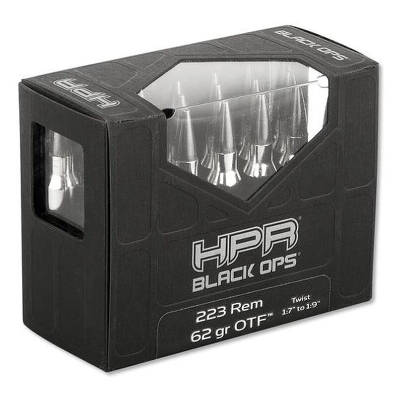 HPR BlackOps 223 Remington Ammo 62 Grain Open Tip Frangible