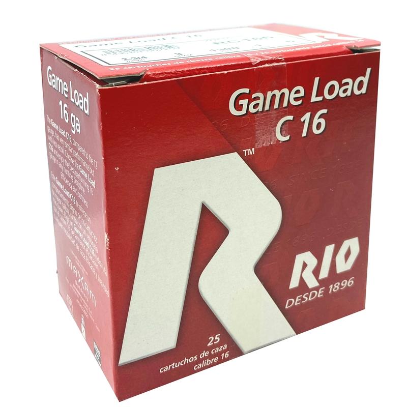 """RIO Game Load 16 Gauge Ammo 2-3/4"""" 1 oz #6 Shot 250 Round Case"""