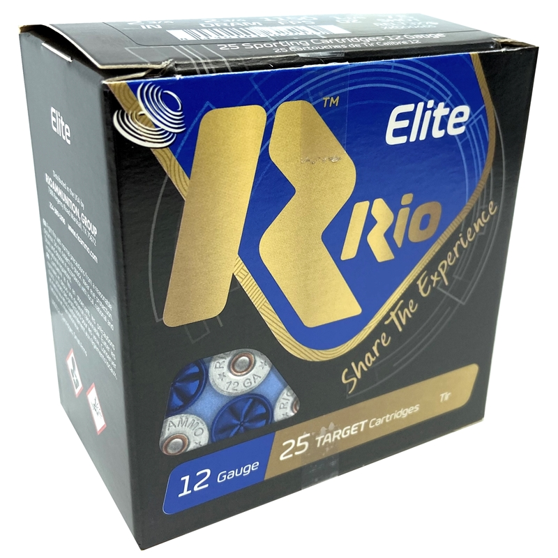 "Rio Elite  12 Gauge Ammo 2 3/4"" 1-1/8oz #7.5 Shot 250 Rounds"