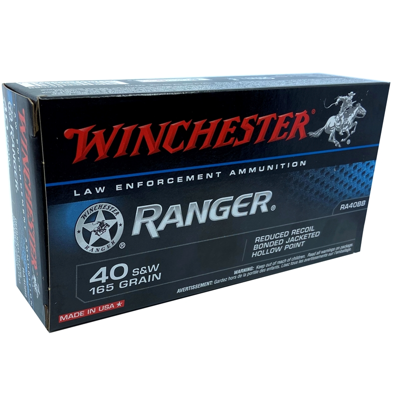 Winchester Ranger 40 S&W 165 Grain Reduced Recoil Bonded JHP