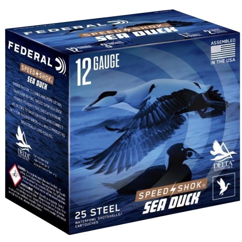 "Federal Speed-Shok Sea Duck 12 Gauge Ammo 3""1-1/4oz #3 Steel Shot"