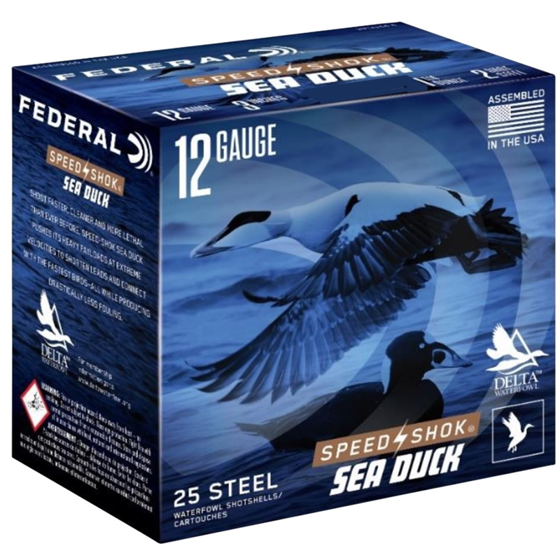 "Federal Speed-Shok Sea Duck 12 Gauge Ammo 3""1-1/4oz #2 Steel Shot"