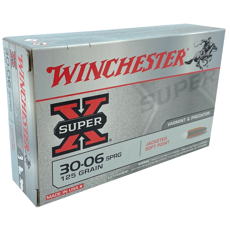 Winchester Super-X 30-06 Springfield Ammo 125 Grain Jacketed Soft Point