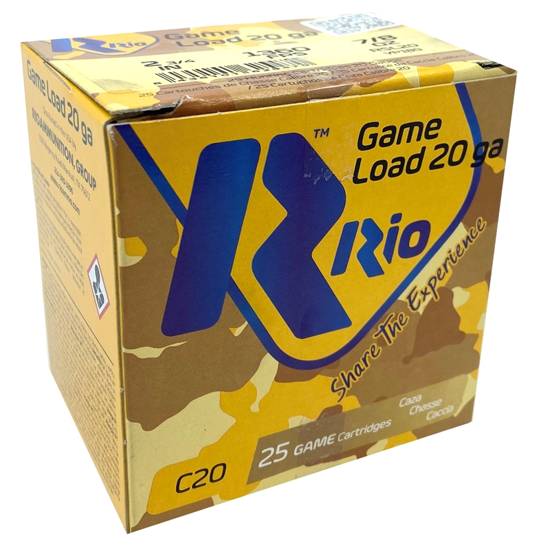 "Rio Game Load 20 Gauge Ammo 2-3/4"" 7/8 oz Royal Star Slug 250 Rounds"