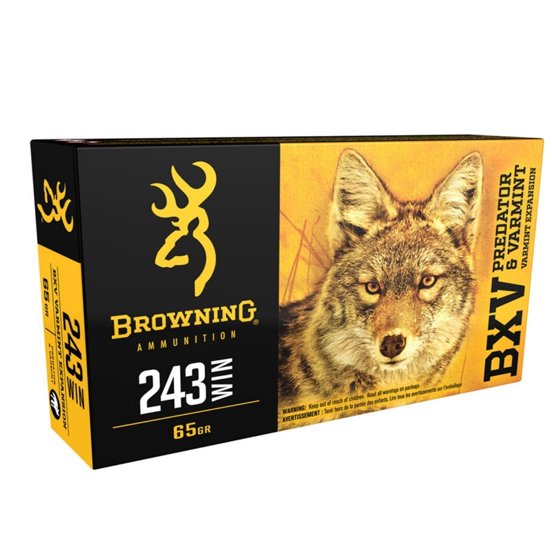 Browning BXV 243 Wincheste Ammo 65 Grain Polymer Tip