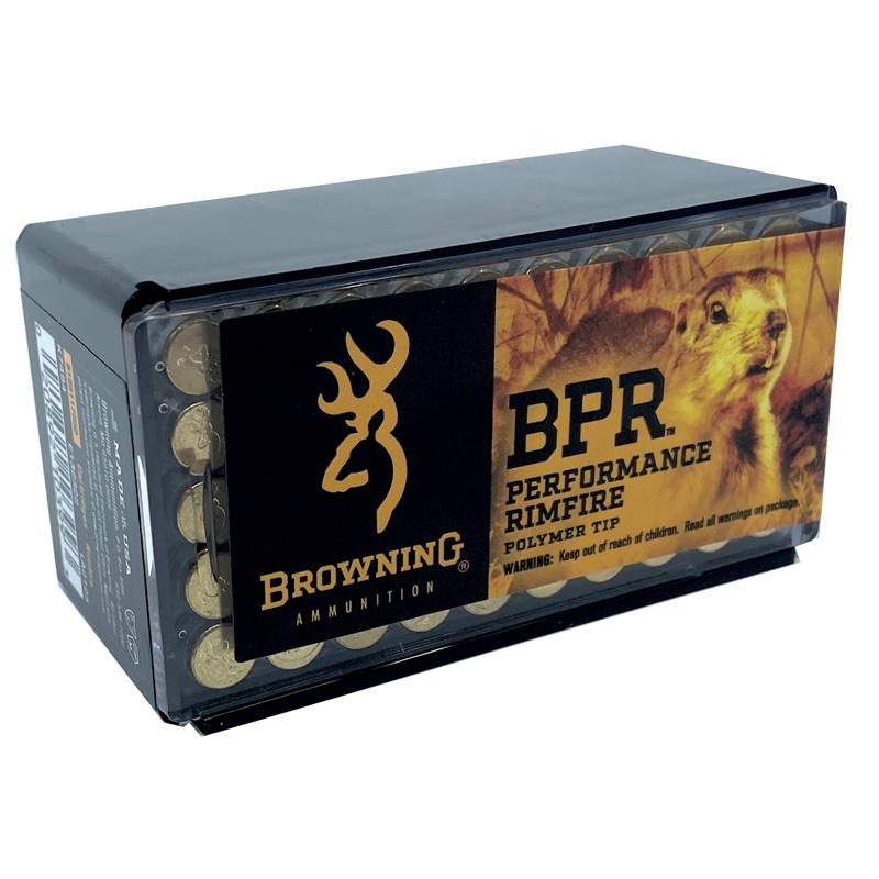 Browning BPR 17 Hornady Magnum Rimfire (HMR) Ammo 17 Grain PolyTip
