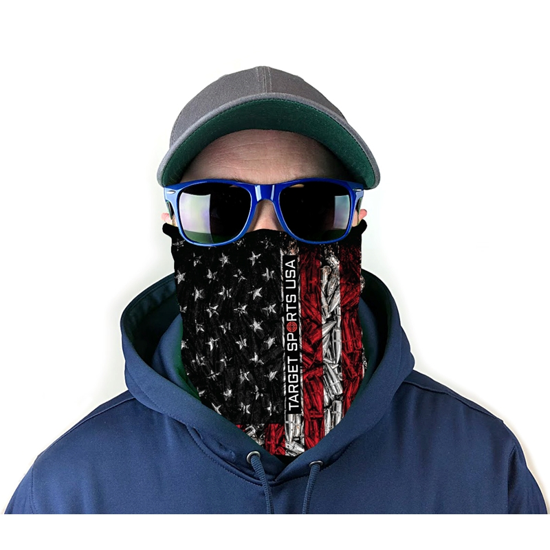 Target Sports USA Neck Gaiter Face Mask - Ammo Flag Print