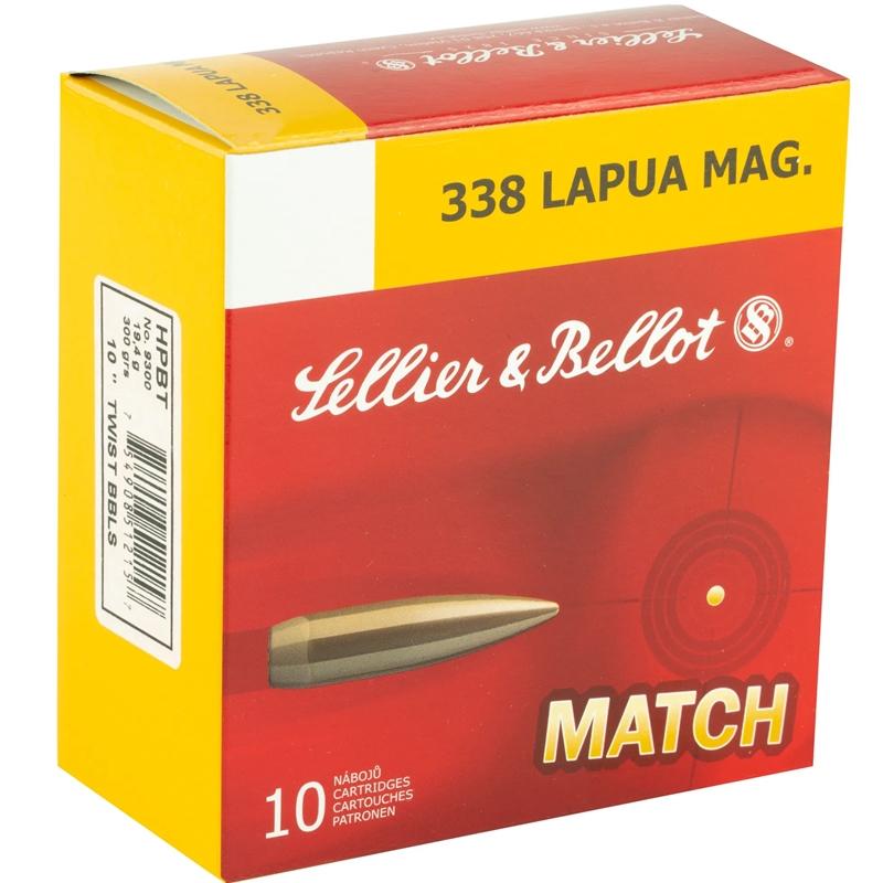 Sellier & Bellot Match 338 Lapua Magnum Ammo 300 Grain HPBT