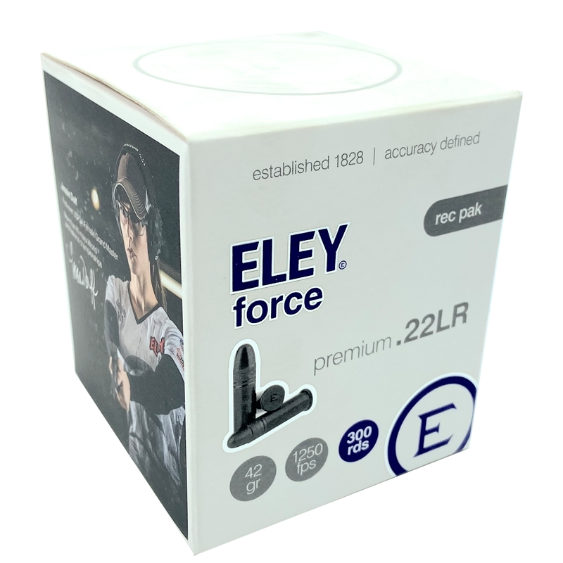 Eley Force 22 Long Rifle Ammo 42 Grain Lead Round Nose