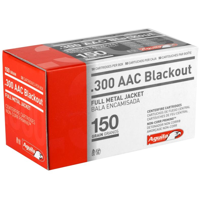 Aguila Centerfire Rifle 300 AAC Blackout Ammo 150 Grain Full Metal Jacket