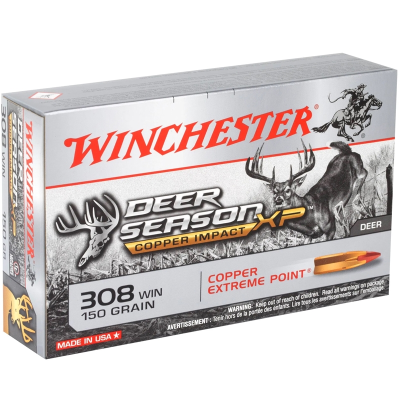 Winchester Deer Season XP 308 Winchester Ammo150 Grain Extreme Point Polymer Tip Lead-Free