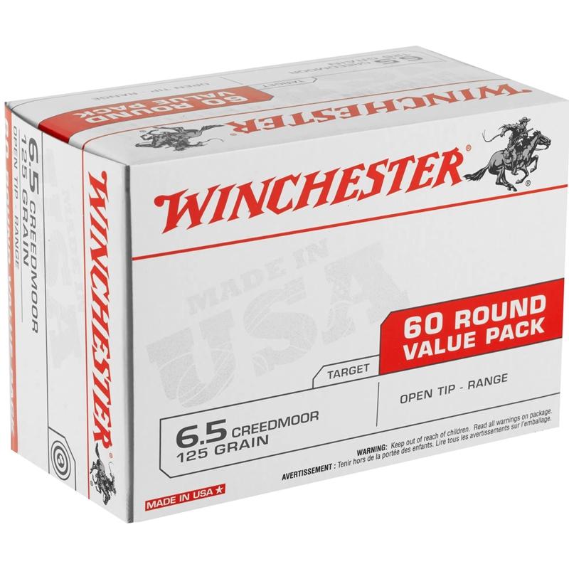 Winchester Super-Target 6.5 Creedmoor Ammo 125 Grain Open Tip Range 60 Rounds Value Pack