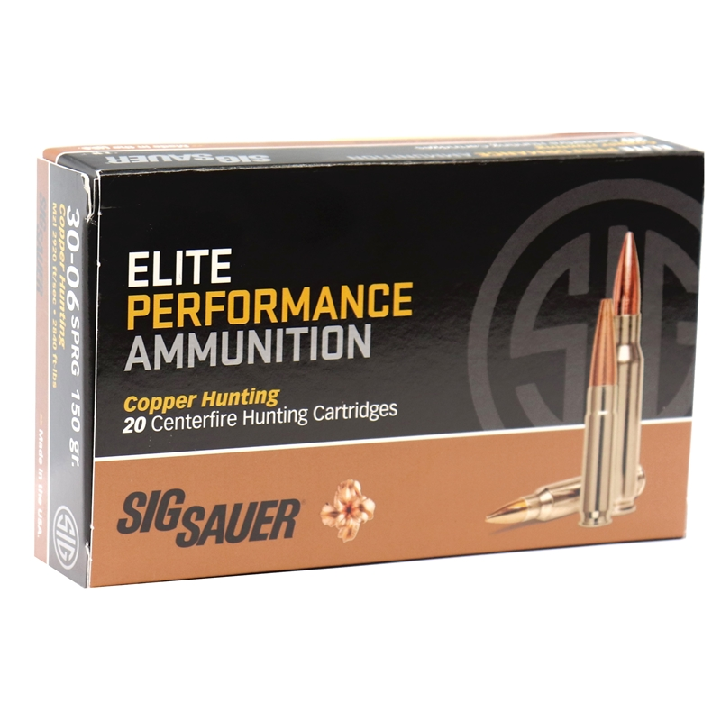 Sig Sauer Elite Performance 30-06 Springfield Ammo 150 Grain Elite Performance Copper Hunting
