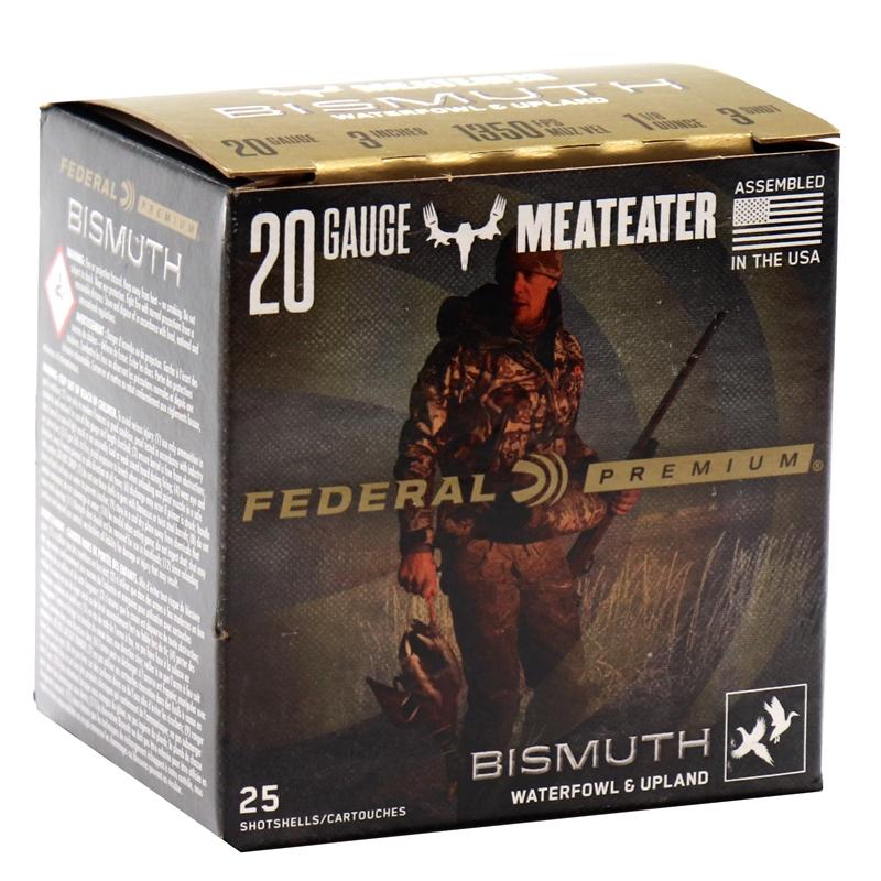 "Federal Premium Bismuth 20 Gauge Ammo 3"" 1 1/8 oz #3 Shot Waterfowl and Upland"