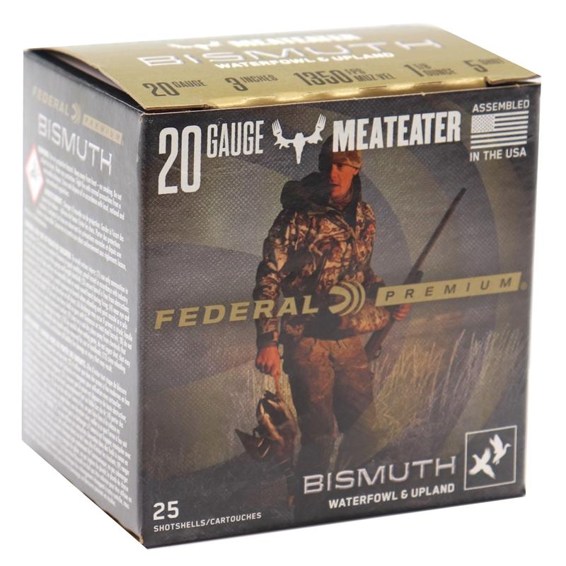"Federal Premium Bismuth 20 Gauge Ammo 3"" 1 1/8 oz #5 Shot Waterfowl and Upland"