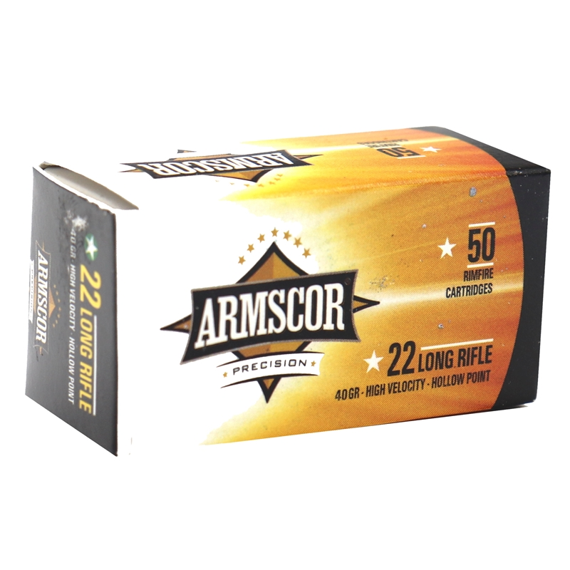 Armscor Precision 22 Long Rifle Ammo 40 Grain High Velocity Lead Hollow Point