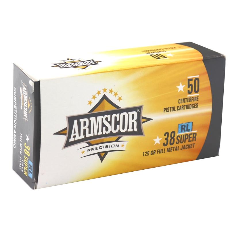 Armscor USA 38 Super Ammo 125 Grain RL Full Metal Jacket Competition