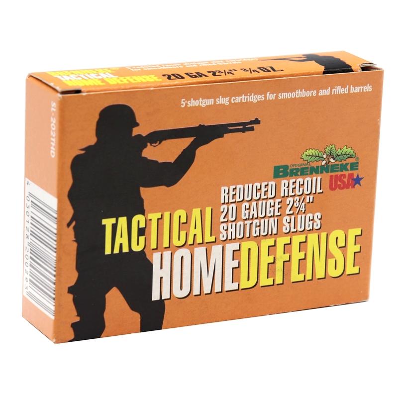 "Brenneke Tactical Home Defense 20 Gauge Ammo 2-3/4"" 3/4 oz Shotgun Slug"