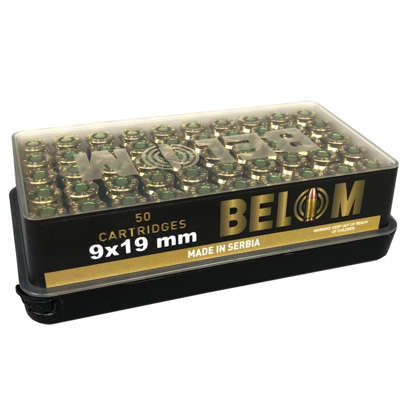 Belom 9mm Luger Ammo 124 Grain Full Metal Jacket