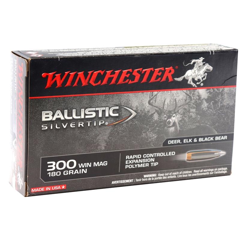 Winchester Ballistic Silvertip 300 Winchester Magnum Ammo 180 Grain Polymer Tip