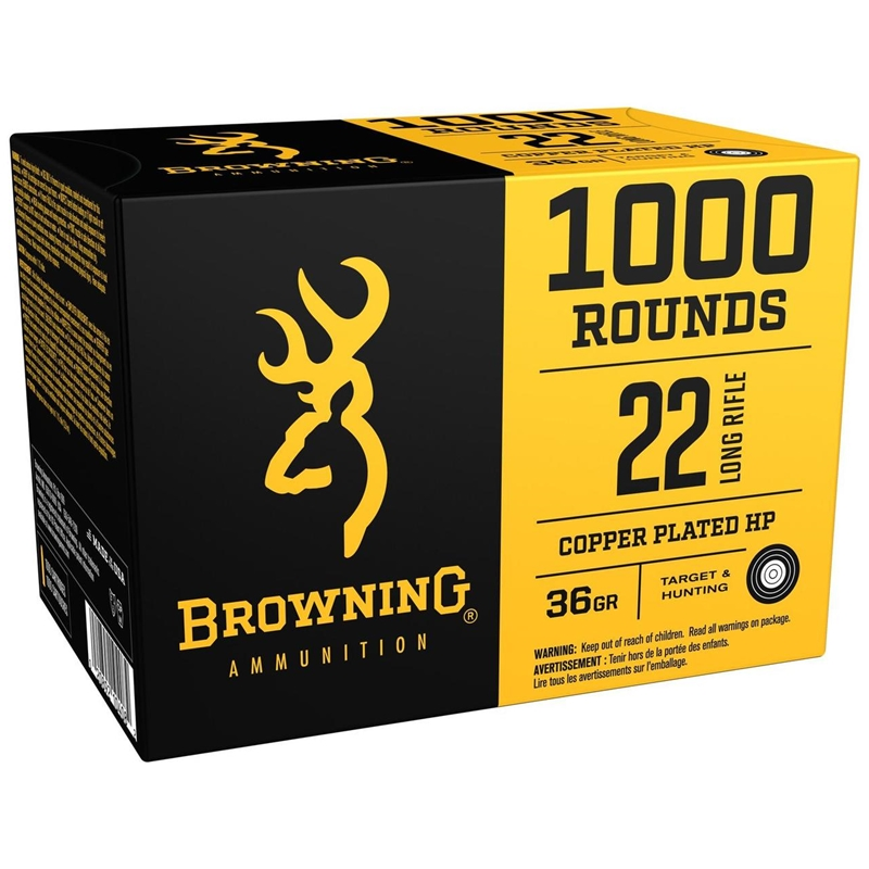 Browning BPR 22 Long Rifle Ammo 36 Grain Plated Hollow Point