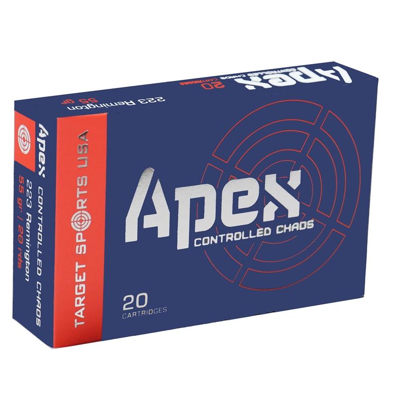 Target Sports USA APEX 223 Remington Ammo 55 Grain Controlled Chaos