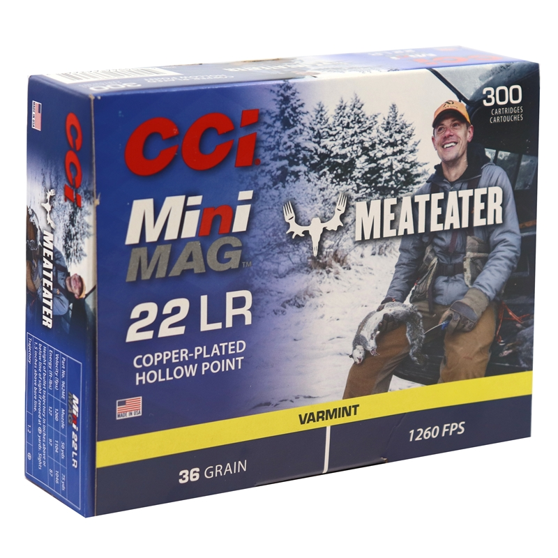 CCI Mini-Mag Special Edition 22 Long Rifle Ammo 36 Grain Plated Lead HP