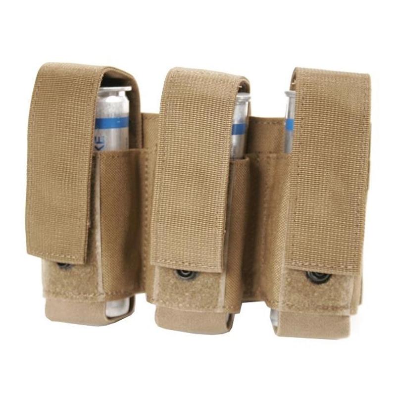 BlackHawk S.T.R.I.K.E. Gen-4 MOLLE System Triple 40MM Grenade Pouch, Coyote Tan