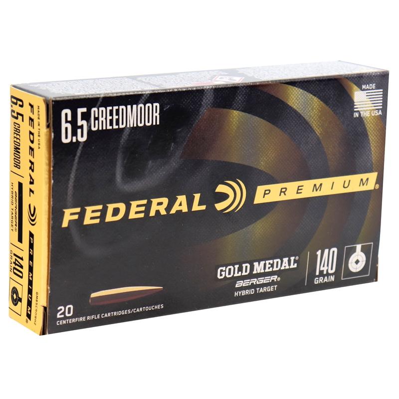 Federal Gold Medal Berger 6.5 Creedmoor Ammo 140 Grain Berger Hybrid