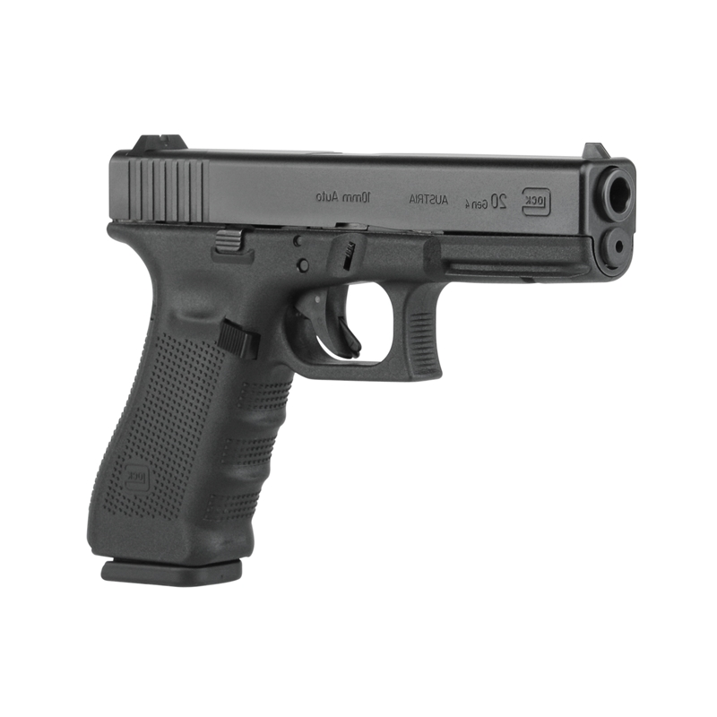GLOCK 20 Gen4 10mm Semi-Auto Pistol 4.60″ 15 Rounds Black