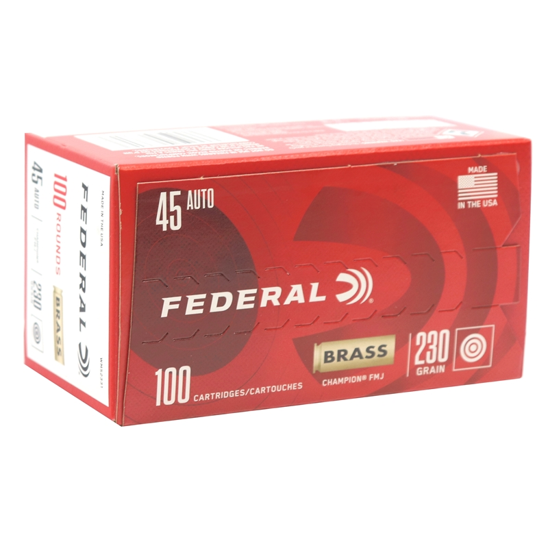 Federal Champion 45 ACP AUTO Ammo 230 Grain Full Metal Jacket 100 Rounds