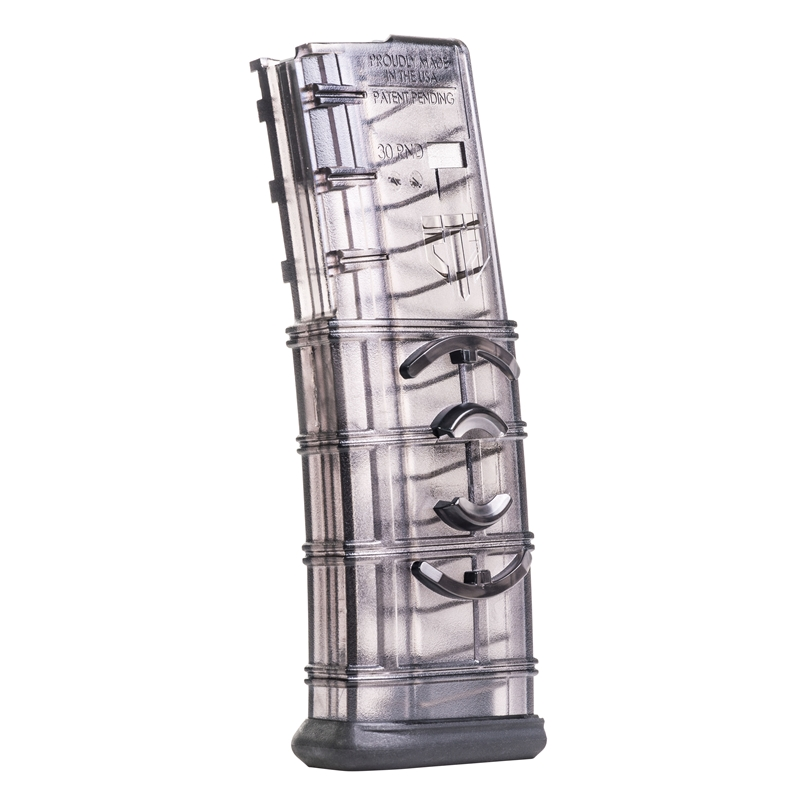 Elite Tactical Systems 5.56x45mm NATO AR-15 Magazine 30 Rounds Polymer Translucent/Black