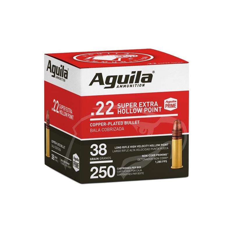 Aguila SuperExtra 22 Long Rifle Ammo 38 Grain High Velocity Hollow Point