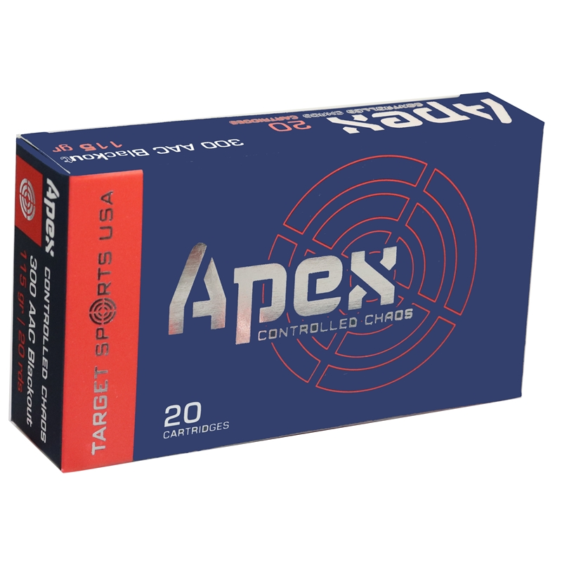 Target Sports USA APEX 300 AAC Blackout Ammo 115 Grain HP Controlled Chaos