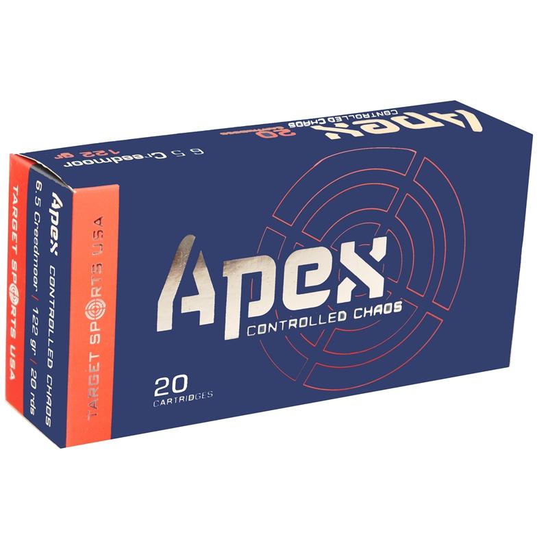 Target Sports USA APEX 6.5 Creedmoor Ammo 122 Grain HP Controlled Chaos